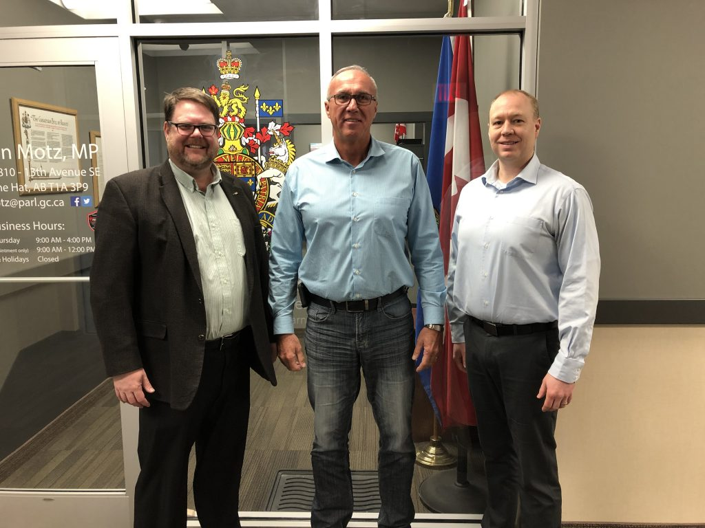 Picture left to right Steven Harris - District Director - Glen -Tyler Wiens - Relationship Manager